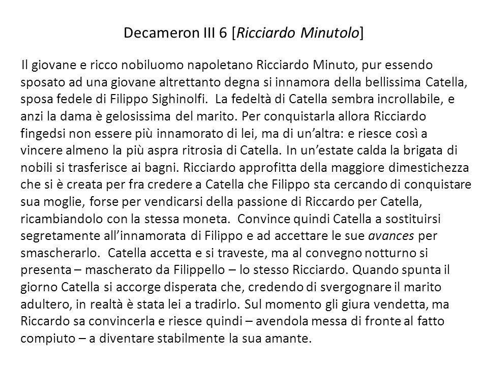 Decameron III 6 [Ricciardo Minutolo]
